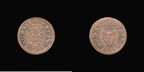 P0241__1 Farthing, Maltravers Round of Charles I