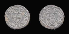 P0373__0 Farthing, Private Pattern Farthing in Pewter of Protectorate