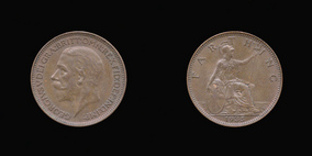 P2356 Farthing, Currency Farthing in Bronze of George V