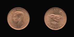 P2469 Farthing, Currency Farthing in Bronze (wartime) of George VI
