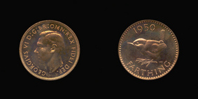 P2484__0 Farthing, Proof Farthing in Bronze of George VI