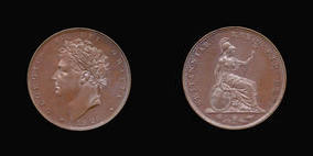 S3825__0 Farthing, Proof Farthing in Copper of George IV