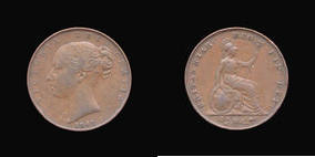 S3950__0 Farthing, Currency Farthing in Copper of Victoria