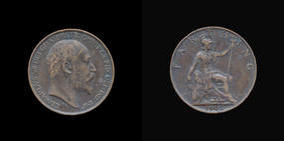 S3992-B__0 Farthing, Currency Farthing in Bronze of Edward VII