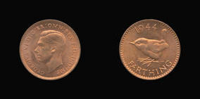 S4116-B__0 Farthing, Currency Farthing in Bronze (wartime) of George VI