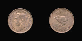 S4119__0 Farthing, Currency Farthing in Bronze of George VI