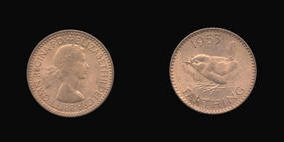S4156__0 Farthing, Currency Farthing in Bronze of Elizabeth II