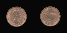 S4159__0 Farthing, Currency Farthing in Bronze of Elizabeth II